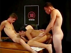 Big dick threesome with Jason Crew, Marco Pirelli, & Barrett Long.