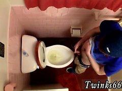 Hairy beard arab gay Unloading In The Toilet Bowl