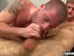 Straight guy sucks cock and gets fucked for some cash