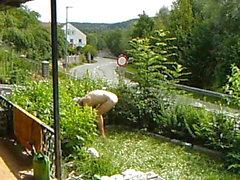 nudic working in the Garden