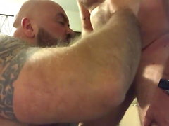 Hairy muscle cocksucker