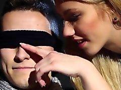 Blindfolded bi dude jizz