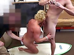 Blonde sporty guy gets tight ass fucked