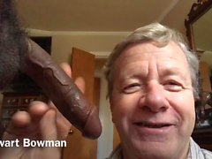Stewart Bowman sucks & worships a Big Black Cock