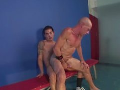 Latino straight twink fucks his DILF karate instructor