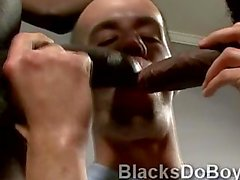 Hot white twink Brenden Shaw blows 2 big black pieces