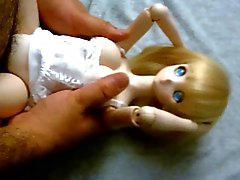 Blonde cute anime Dollfie onahole doll fuck