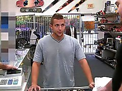 Hot stud banged back in the office to a pawn shop