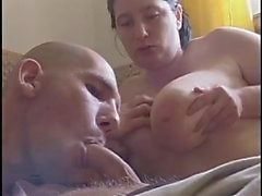 Bi threesome mmf with huge tits