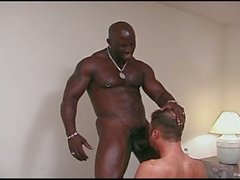 Monster Black Cock Fucks a White Gay Ass