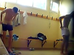 Two hot boys naked in the lockerroom