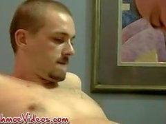 Amateur Americans Blaze and Heath bareback and blowjob