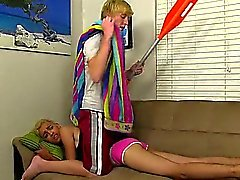 Twink boy Dustin Cooper gets a spanking from his horny