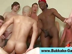 Watch cum loving amateur dudes get soaked