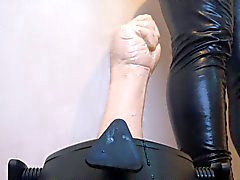 rubber fist fucking hard - using a new stand to ruin my ass